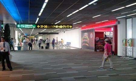 バンコク ドンムアン空港バーガーキング写真