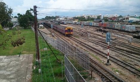 タイ ハジャイ駅の俯瞰写真