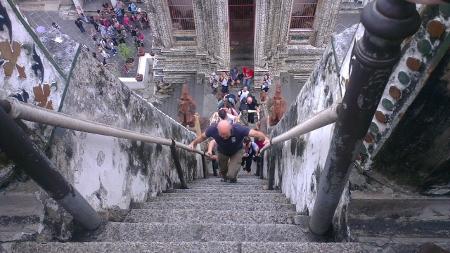 タイ バンコク ワットアルン階段画像