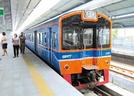 タイ国鉄SRTの高架鉄道開通画像