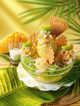 タイ 夏季限定 スウェンセンのマンゴーアイスクリーム写真