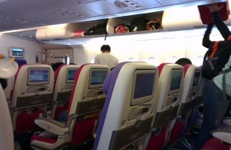 タイ航空 A380機内画像