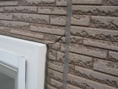 外壁ひび割れ2