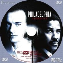Tanitaniの映画 自作DVDラベル&BDラベル-フィラデルフィア