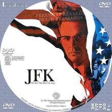 Tanitaniの映画 自作DVDラベル&BDラベル-JFK
