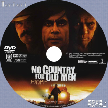 Tanitaniの映画、自作DVDラベル-ノーカントリー