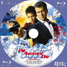 Tanitaniの映画 自作DVDラベル&BDラベル-007/ダイ・アナザー・デイBD