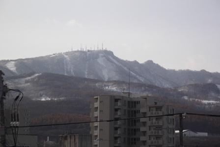 雪景色の手稲山