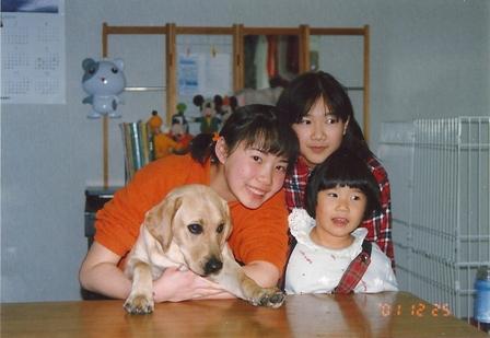 三姉妹と6ヶ月の頃のすずばあちゃん(11年前)