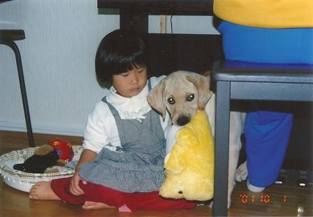 4歳のマユチャンとすずばあちゃん(11年前)