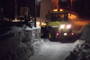 夜中の除雪