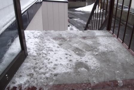 先週、雪が降った日の朝