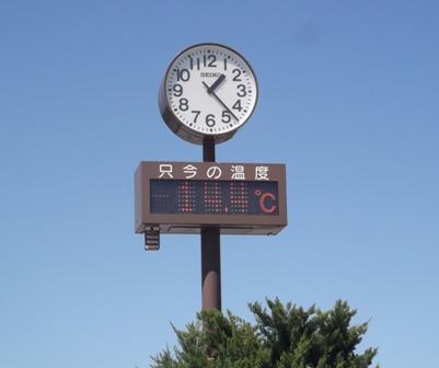 空が青い! 帰りの時間と気温