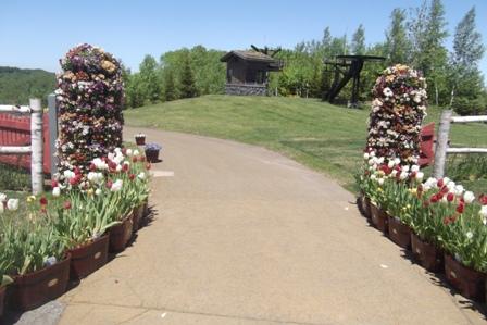 お花いっぱいの門