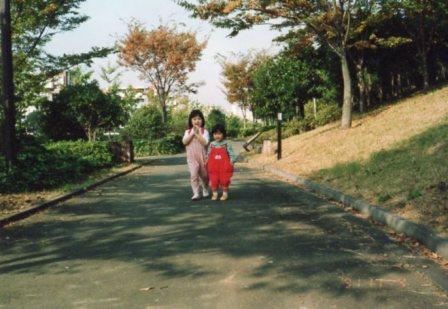 横浜に住んでいた頃(近くの散歩道で)
