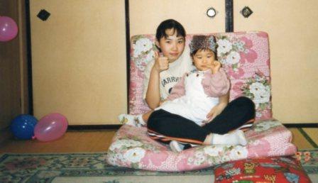 ゆりたんとマユチャン(6年生と2歳)