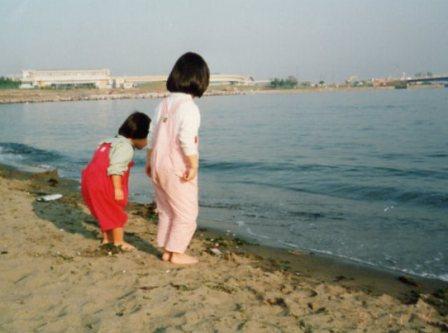 横浜 お家の近くの海で