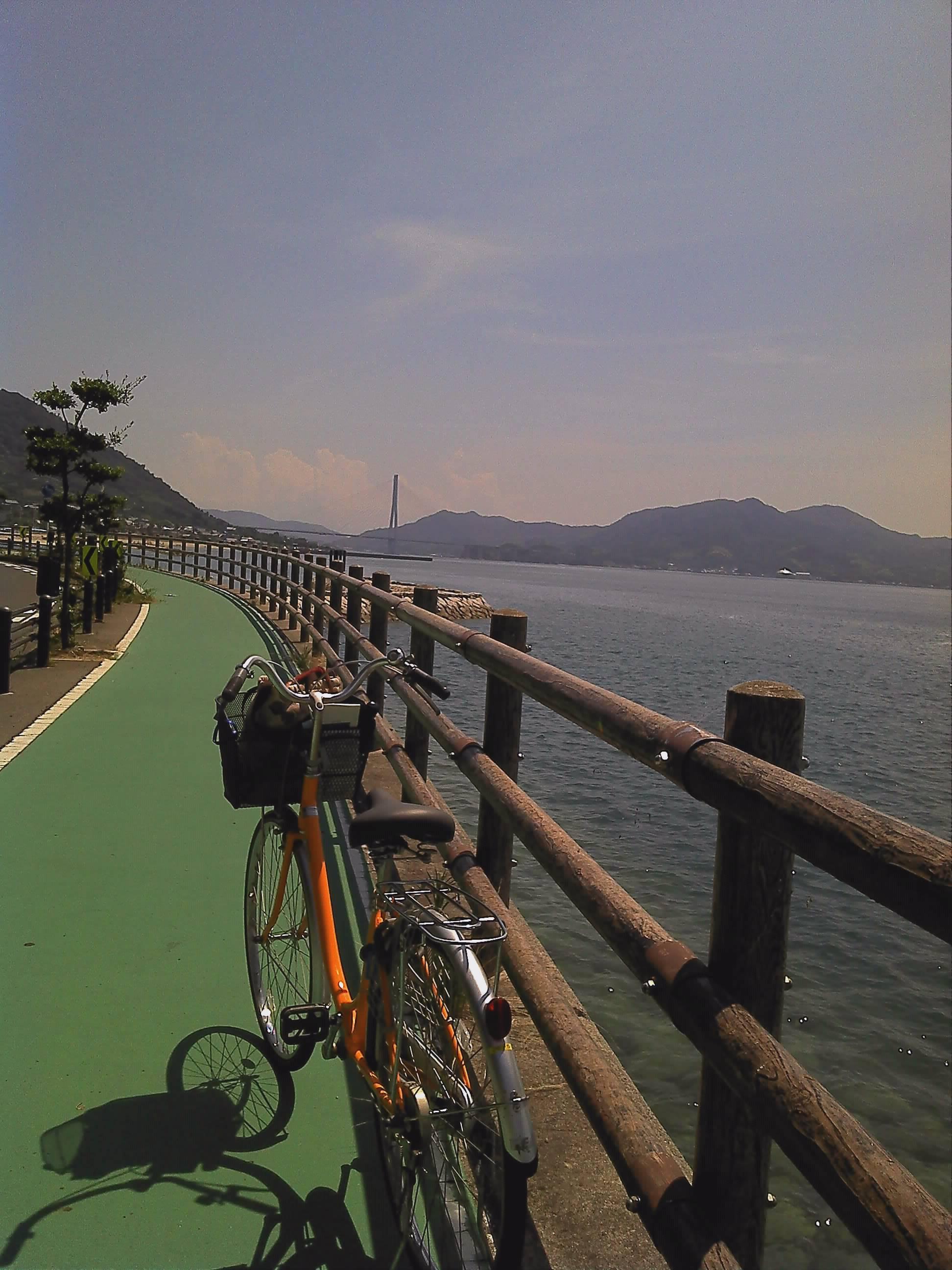海岸と自転車
