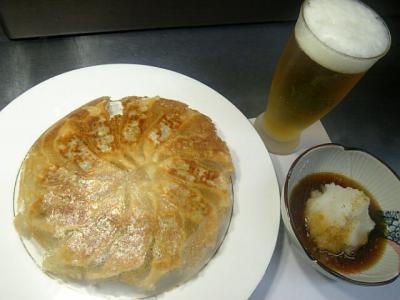 餃子にビール