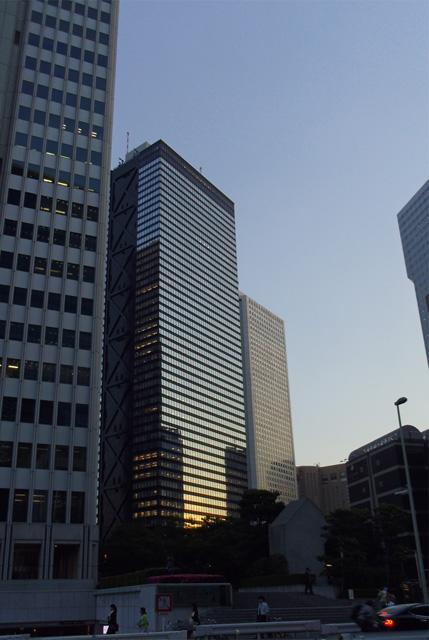 西新宿の夕陽