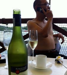 ワインと前山シェフ