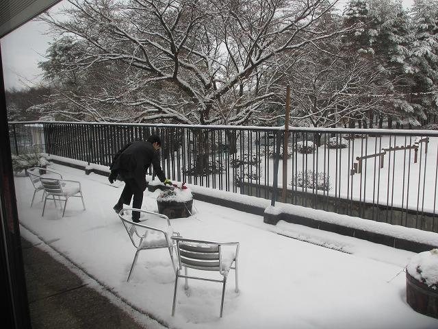 20121222ホテル風かの雪景色 (1)