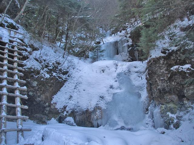 20130110滝へ5 第一の滝に到着 (3)