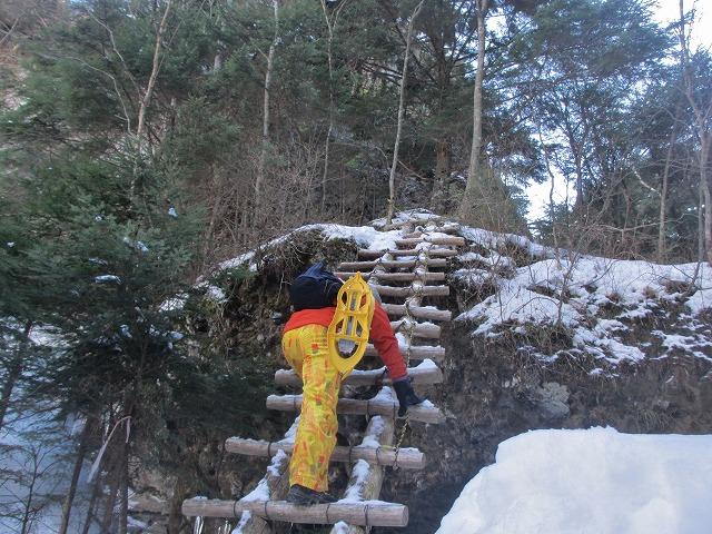 20130110滝へ7 はしごへ (2)