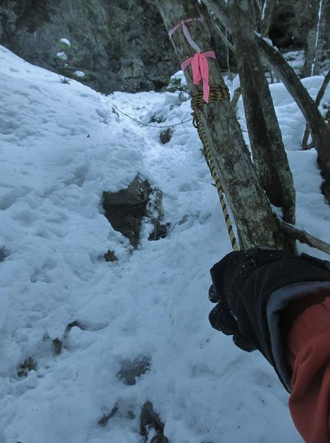 20130110滝へ8 二の滝越え