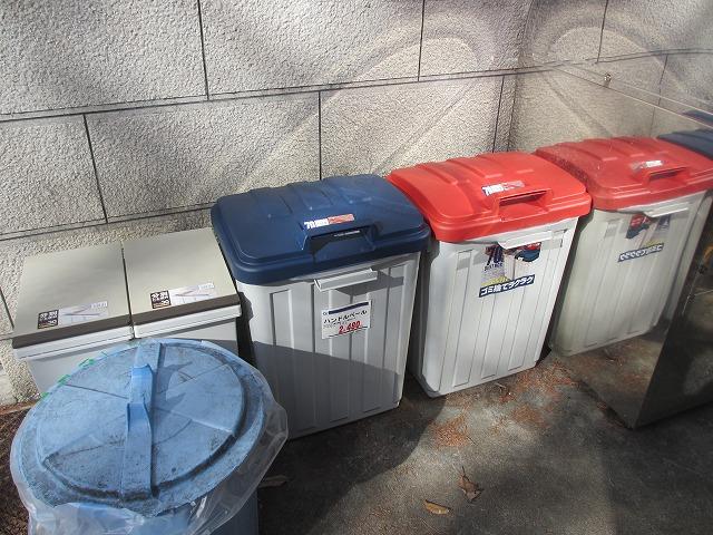 20130112悠心荘の新しいゴミ箱 (1)