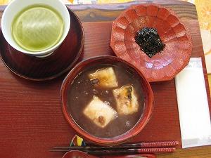 甘味処のおしるこ・あんみつ  (1)