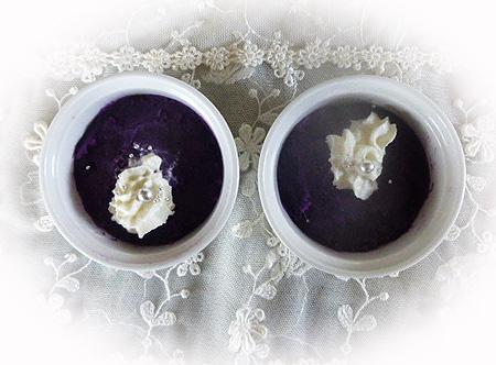 収穫紫芋で