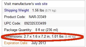 iherb重量
