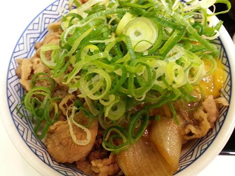 牛ねぎ玉丼 (1)