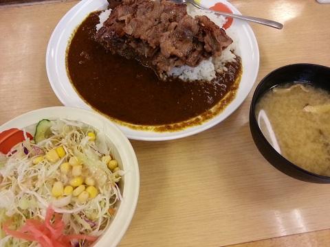 松屋フーズのカルビカレー (3)