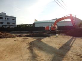 基礎工事が始まりました1