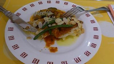 白身魚のアーモンド風味イタリアンソース