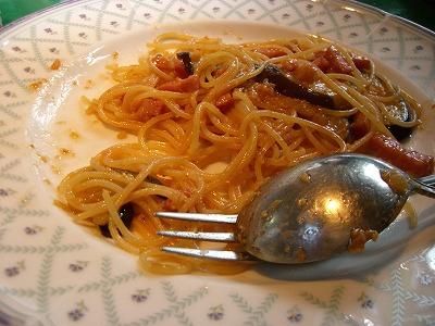 ベーコンと茄の和風味噌