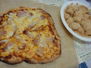 ピザとだんご