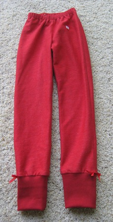 knit pants red