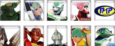 ヒーロー8人アイコン GO!HEROESのコピー