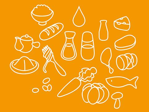 ブログ用食べ物イラスト
