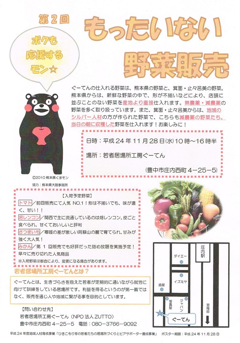 20121128第2回もったいない野菜販売