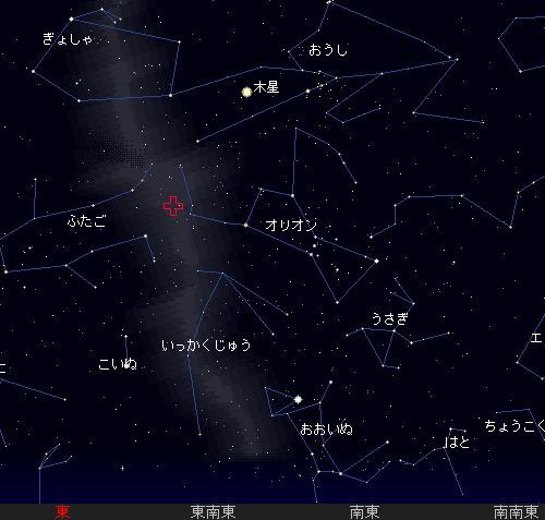 201210 21 オリオン座流星群星図