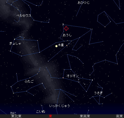 201211 12 おうし座北流星群星図