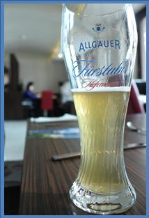 20141221ホプフェン湖で食べた時のビール