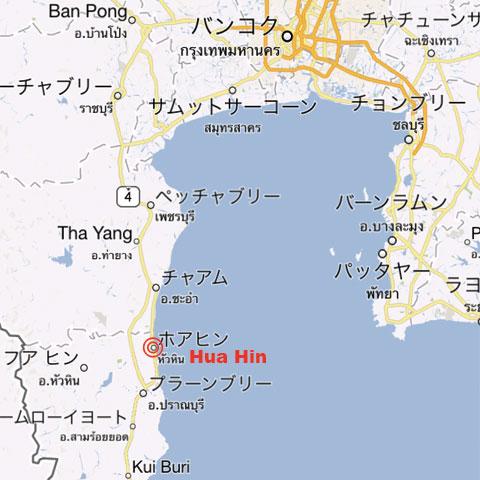 ホアヒン地図