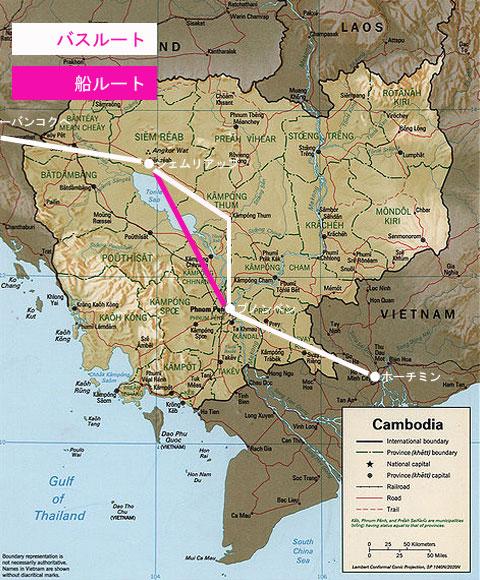 地図カンボジア
