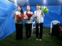 コンサート終了後の花束