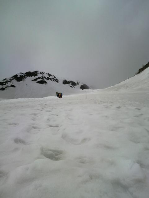 スキー履いて
